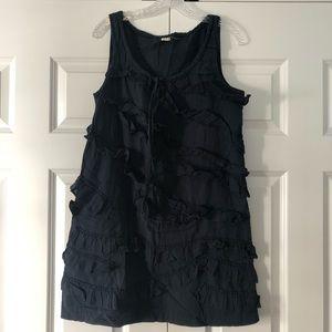 Jcrew navy cotton dress
